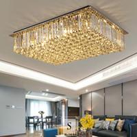 현대 사각형 크리스탈 샹들리에 조명 룸 침실 평방 크리스탈 샹들리에 램프 고급스러운 천장 샹들리에 조명기구 생활