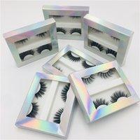 2Pairs 3D de imitación de visón Cabello / largo grueso de los latigazos del ojo de las pestañas falsas naturales mezclados maquillaje Etéreo los instrumentos de extensión de belleza