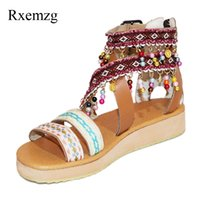 Rxemzg sandal flat shoes open toe platform sandal wedges sho...
