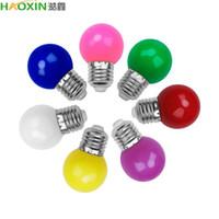 Haoxin hanno condotto la lampadina Bomlillas E27 3W colorato Lampada Fiala di RGB LED SMD 2835 Torcia Home Decor AC110 / 220V Globe Bulbi casa
