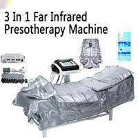 CHAUD! 3 en 1 infrarouge lointain pressothérapie EMS électrique musculaire stimulation Sauna pression d'air Pressothérapie Drainage lymphatique corps minceur Machine