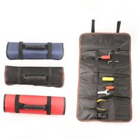 Herramienta de múltiples funciones prácticas bolsas de asas de transporte de rodillos Bolsas cincel Juego de Herramientas del electricista herramienta de reparación de instrumentos Caso OOA7570-5