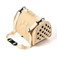 Köpekler için Kedi Katlanır Pet Taşıyıcı Kafes Katlanabilir Köpek Sandık Çanta Taşıma Çantaları Evcil Malzemeleri Taşıma Chien Aksesuarları
