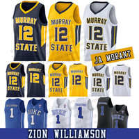 جامعة المتسابقين الدولة جا مورانت موراي 12 جا مورانت كلية كرة السلة جيرسي رجل مخيط 1 صهيون ويليامسون الفانيلة