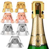 Varış Bar Araçları Paslanmaz Çelik Şişe Stoper Silikon Şarap Şampanya Tıpaları Yaratıcı Stil Ağız Kullanımı Kolay 4 5nnh1