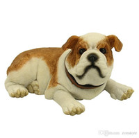 High Quality Cute Lying English Bulldog Figurine - Cute Lyin...