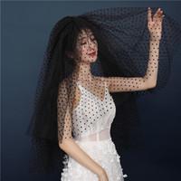 Belleza marfil negro boda velos nupciales velos de novia Accesorios de novia Veils V326003