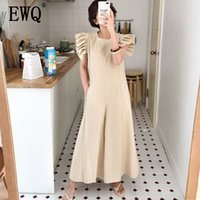 [EWQ] 2019 spring new Korean style Ruffles Round neck sleeve...