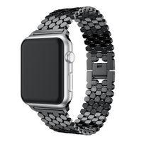 Paslanmaz Çelik bant Apple Ürünü için 38mm 40mm 42mm 44mm Watchband Apple iWatch Serisi için 4 3 2 1 Kayış Bilezik Kemer
