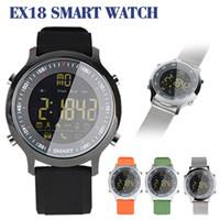 Смарт-часы EX18 фитнес-трекер водонепроницаемый калорий шагомер Smartwatches браслет Bluetooth вызов и сообщение напомнить для IOS Android