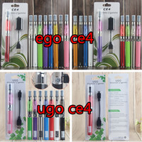 Ego T CE4-Kits Einzelne Verdampfer-Starter-Blisterpackung Elektronische Zigarette mit 650mAh 900 1100 mAh Micro USB Evod Pass durch Batterie