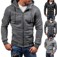 Basic Style Herren Winter Slim Hoodies Warme Kapuze Taschen Mantel Jacke Outwear Outdoor Gym Sport Trainingsanzug Jacke Mäntel