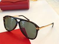 Diseñador de lujo gafas de sol 0105 marco piloto de alta calidad al aire libre uv400 gafas protectoras al por mayor generoso estilo minimalista