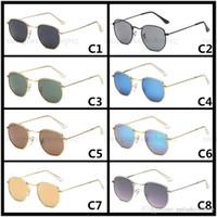 Homens e mulheres tendência marca óculos de sol moda óculos de losango armação de metal óculos UV400 óculos Retro rodada 3548 óculos de sol