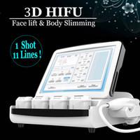 Mais novo 3D Hifu Pele apertando corpo emagrecimento Máquinas 9D Hifu Alta intensidade Focado ultra-som anti-rugas Finelines Lipo Hifu Dispositivo
