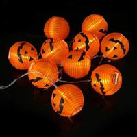 1 Set Kabak 10 LED Işıklar Cadılar Bayramı Dekorasyon Işıklar Sıcak Beyaz Cadılar Bayramı Kabak Işıklar Ev Dekorasyon