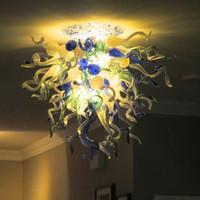 Высокий Потолочные светильники Италия конной Лампы Art Deco LED выдувное стекло Кухня Потолочный светильник для гостиной Мебель Люстры Потолочные -L