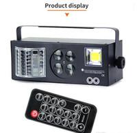 DJ-Ausrüstung 4 in1 Laser-Flash-Strobe-Muster Schmetterling Derby DMX512 LED-Beleuchtungs-Disco-DJ-Bühnenlicht vier Funktionen Bordeffekt LLFA