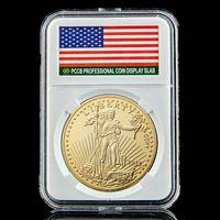 1933 Liberty Coin Squisita American Freedom Eagle Commemorative Collezione placcata orologio monete Art W / PCCB Box