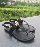 HOT Selling fashion Designer TB sandals Flip Flops leather s...