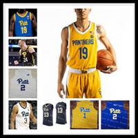 Personalizado 2021 Faculdade Basquete Pittsburgh Pitt Panthers Jersey Trey McGowens Xavier Johnson Justin Champagnie Ryan Murphy Au'Diese Toney 4xl