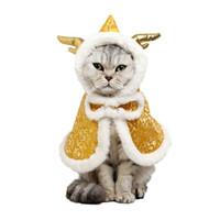 Pet Cat Comfy Мягкий Симпатичный Повседневный Плащ Зимний Китайский Новый Год Костюм Одежда Кошки Собаки Одежда Плащ Домашние Животные Поставки Кошачий Материал