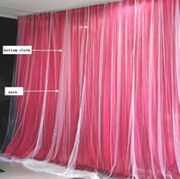 Due strati di sfondo personalizzato da sposa da sposa partito feste celebrazione sfondo satinato tenda drappo del soffitto del soffitto