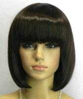 Perruque LL chaude résistant à la chaleur Party hairNew Fashion BOB style brun foncé court Straight
