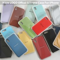 Original Have LOGO Official Silicone Cases for iPhone 7 8 6 ...