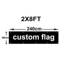2x8ft Individuelle Flaggen 60x240cm Polyester Werbung Fliegen-Fahne beim Drucken beliebiger Größe in 100D Polyester-Gewebe, freies Verschiffen
