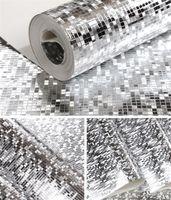 새로운 10Mx 53cm 반짝이 반사 효과 미니 모자이크 스파클 빛은 금박 벽지 실버 호일 벽 종이를 반영