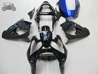 Kit de carénage de haute qualité pour Kawasaki Ninja ZX-9R 00 01 Flammes Bleu Flammes Parties de carénage de la moto ZX9R 2000 2001 ZX 9R