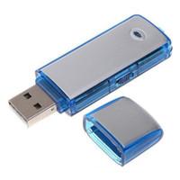 مسجل صوت رقمي U-Disk 2 في 1 بسعة 8 جيجا بايت ، ذاكرة تسجيل قابلة لإعادة الشحن بسعة 4 جيجا بايت ، محرك فلاش USB مسجل صوت ، أزرق أسود