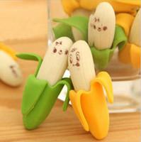 Oferecendo populares borrachas de borracha linda fruta forma escritório borracha bananas sorriso faces decoração de mesa