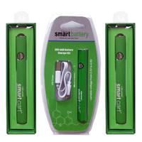 스마트 쇼핑 카트 배터리 380mAh VV 가변 전압 510 개 실 배터리 예열 예열 Vape 펜 배터리 하단 USB 충전기 오일 카트리지