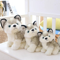 Husky Köpek Peluş Oyuncak Küçük Doldurulmuş Hayvanlar Bebek Oyuncak Hediye Çocuklar Noel Hediyesi Doldurulmuş Hayvanlar Peluş Bebekler çocuklar Oyuncaklar EEA551