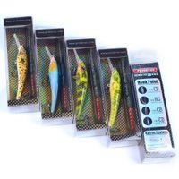 Marca PROBEROS Pesca de agua dulce Minnow Anzuelos de cebo artificial 9.5cm 5g 6 colores Suspensión Jerkbait Cebos duros con láser