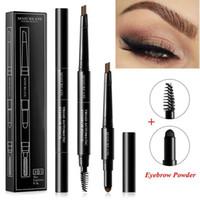 3 in 1 wasserdichte multifunktionale automatische augenbraue-Pigment-Make-up-Kit-Augenbraue-Bleistift mit Bürste natürliche langlebige Farbe .22