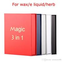 Authentic Magic 3 in 1 Kit di avviamento sigaretta elettronico con vaporizer a cera fa MT3 Glass Globle Atomizzatore Atomizzatore Evod Batteria Asciuga VAPorizer Herb