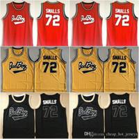 Biggie Smalls # 72 плохой мальчик пресловутый большой кино Джерси 100% сшитые баскетбольные трикотажные изделия дешевые желтые красные черные смеси