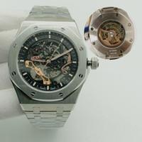 2021-U1 Мужские Часы Автоматические механические часы Мужчины Часы Дайвер Спортивный Сталь Ремешок 15407 Мужской Сапфир Стекло Полые наручные часы 5TM WaterProoo