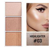4 cores Highlighter paleta maquiagem rosto contorno em pó bronzer make up blusher profissional blush palette cosméticos