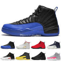 12 12s Game Royal FIBA ​​Herren Basketballschuhe Bumblebee Dark Grey Die Maste Flu Game Herren Sport Designer Turnschuhe US 7-13