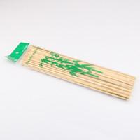 30 * 0.3 cm bambú natural pinchos palos barbacoa barbacoa fruta kebab kebab Fondue asar a la parrilla pincho QW9694