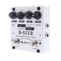 JOYO D-SEED Pedal de efecto de guitarra Dual Channel Digital Delay Pedal de guitarra con cuatro modos Partes de guitarra Accesorios