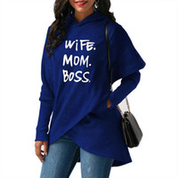 MOM Letters Print Split Hoodies für Frauen Hoodies Kawaii Sweatshirt Femmes Sweatshirts Jugend Harajuku Female Hoody Buckle