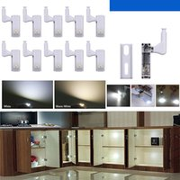 LED Sob Gabinete Light Sensor Lâmpada Inner dobradiça luzes para Armário Closet Roupeiros Quarto Cozinha Drawer