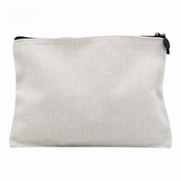 30PCS 2020 جديد التسامي الكتان فارغة أكياس مستحضرات التجميل عملة محفظة حقيبة ماكياج نقل الساخنة طباعة فارغة للاستهلاك
