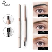 Pudaier 10 colori per sopracciglia Super Fine doppio-Headed Spazzola impermeabile e sweatproof Stereotype Eyebrow Pencil Cosmetic trucco