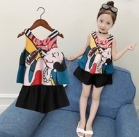 Baby girls outfits children Chiffon print top+ shorts 2pcs se...